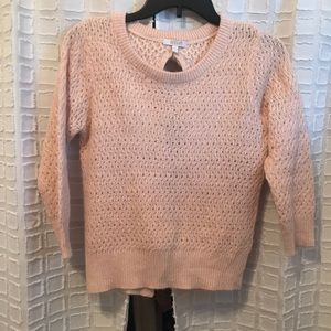 Pink Knitted Sweater, Size S